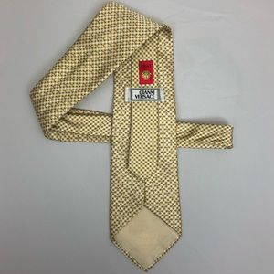 RARE Vintage Versace Gold Medusa Tie NWOT